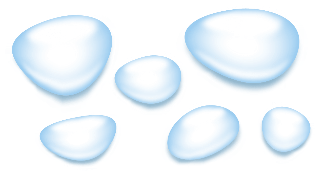 水滴表現のバリエーション
